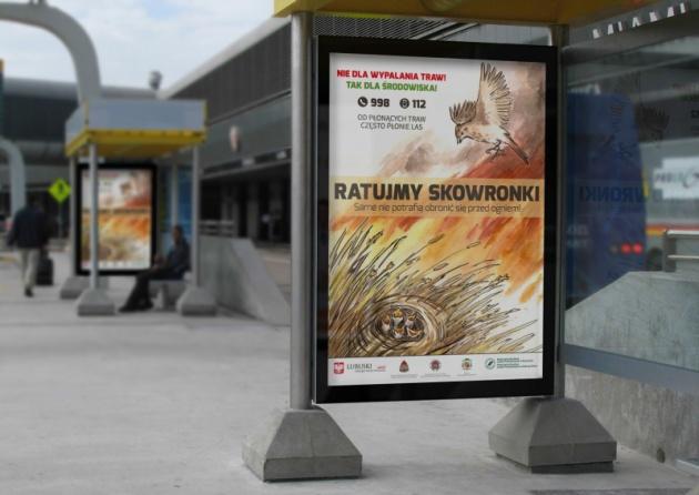 Plakaty i ulotki akcji Ratujmy skowronki