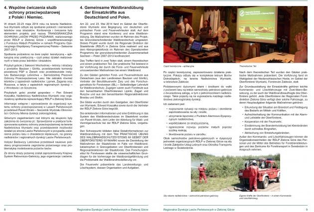 Folder - raport dla RDLP w Zielonej Górze