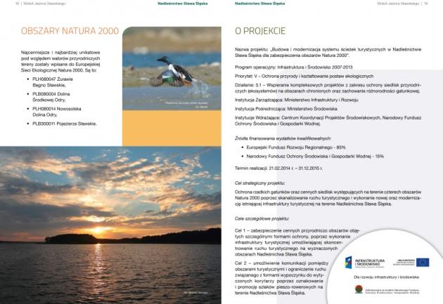 """Folder """"Wokół jeziora Sławskiego"""""""