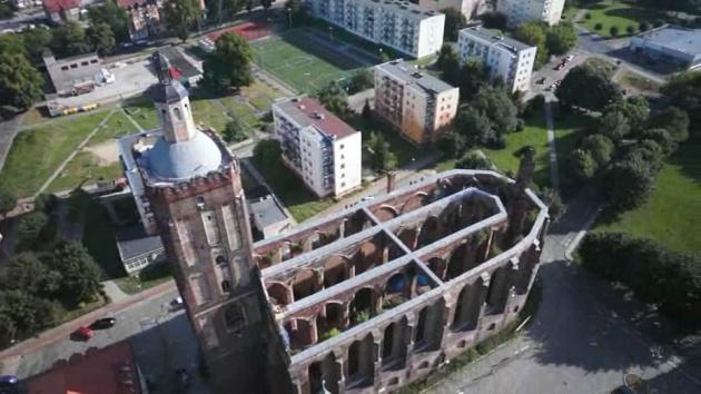 Fara gubińska - Impresja zdjęć video z lotu ptaka Gubin - Oczyszczalnia Gubin-Guben